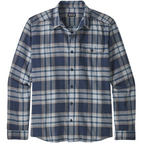 Patagonia LW Fjord Flannel Shirt Herr whyte/stone blue